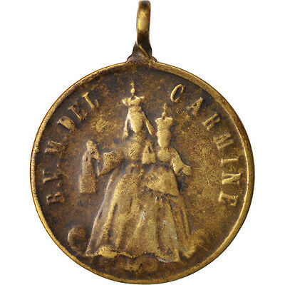 Well-Educated Carmine Medal High Quality Materials #414178 Xixth Century Vf Religions & Beliefs Spain 20-25