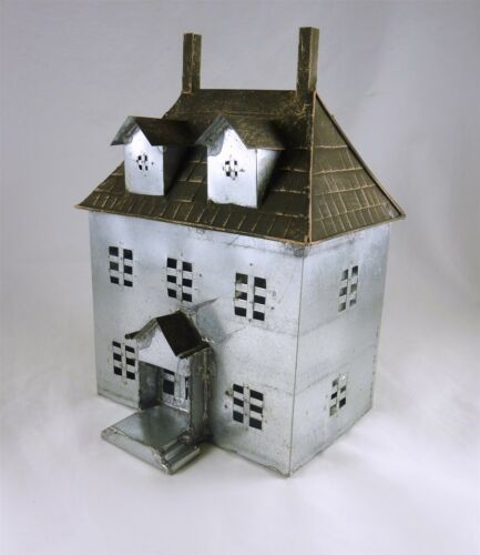 Dollhouse Miniature Fairy Garden Metal French Chateau House
