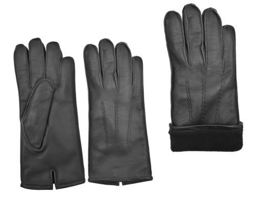Men/'s Winter Fashion Dress Gloves Top Quality Real Sheep Nappa Leather Lining