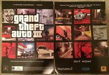 Grand Theft Auto 3 Poster Ad Print Playstation 2 Rockstar