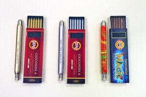 Bleistift Fallminenstift Druckbleistift 5,6mm inkl. Minen Gold Silber Magic