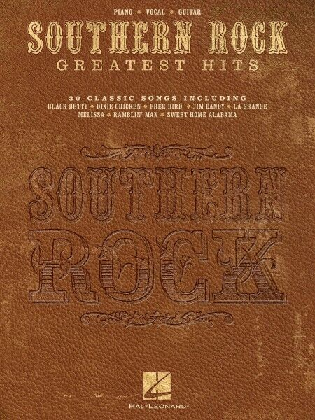 Southern Rock Greatest Hits Piano Sheet Music Guitar Chords 30 Songs