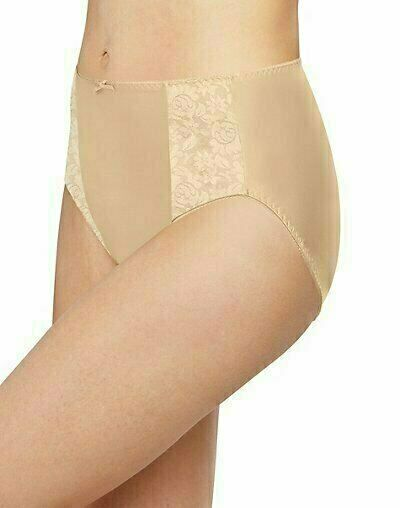 White T3 3XL Bali DFDBHC Double Support Hi-Cut Brief Panty