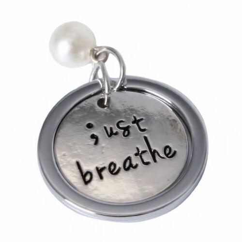 "/""simplemente respirar por favor tome una respiración profunda/"" Imitación Collar De Perlas KEYRING CB"