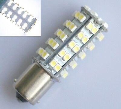 2X White Car RV 1156 BA15S 68-SMD Tail Backup Reverse LED Light bulbs 1141 1156A