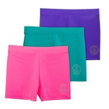 Gymnastics /& Dancewear Layla Girls Dance Shorts Lucky /& Me 3-Pack Tagless for Comfort and Premium Stretch Performance