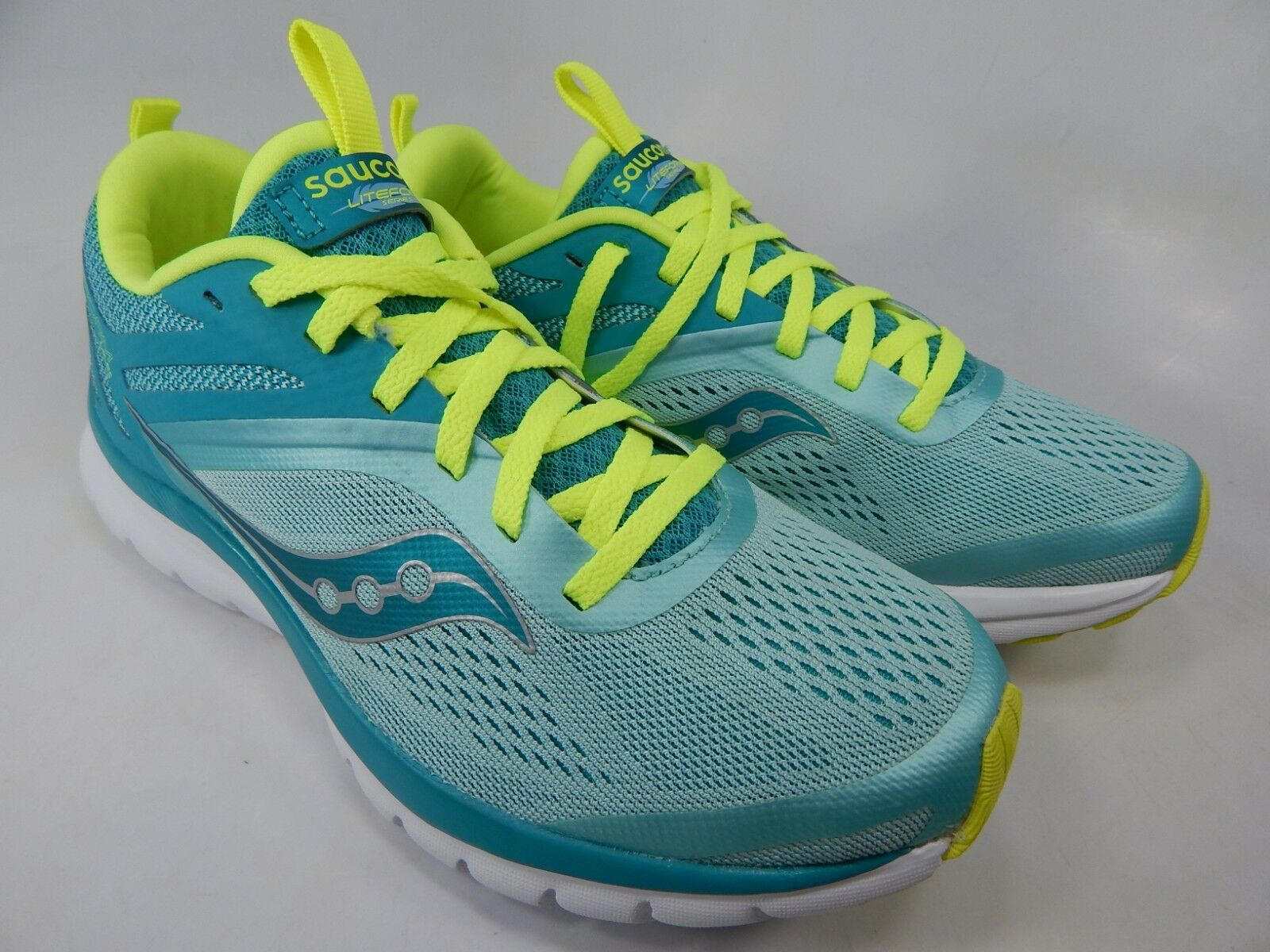 Saucony liteform Miles Taille 8 M (B) UE 39 Femmes Chaussures De Course Bleu Sarcelle S30007-1