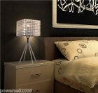 Modern Simplicity Metal Chrome Diameter 21cm Height 50cm Creative Table Lamp