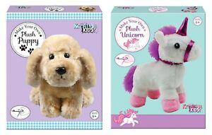Make-Your-Own-Plush-Soft-Toy-Puppy-Unicorn-Children-Sewing-Stuffing-Craft-Kit