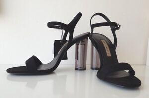 6e69d12aefc zara black high heel sandals  shoes with methacrylate heels size uk 5 ...