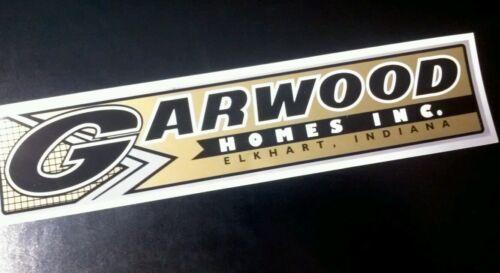 """Garwood Homes Decal Vintage Travel Trailer Chrome Gold Black 10 1/2"""" 2*4*1"""