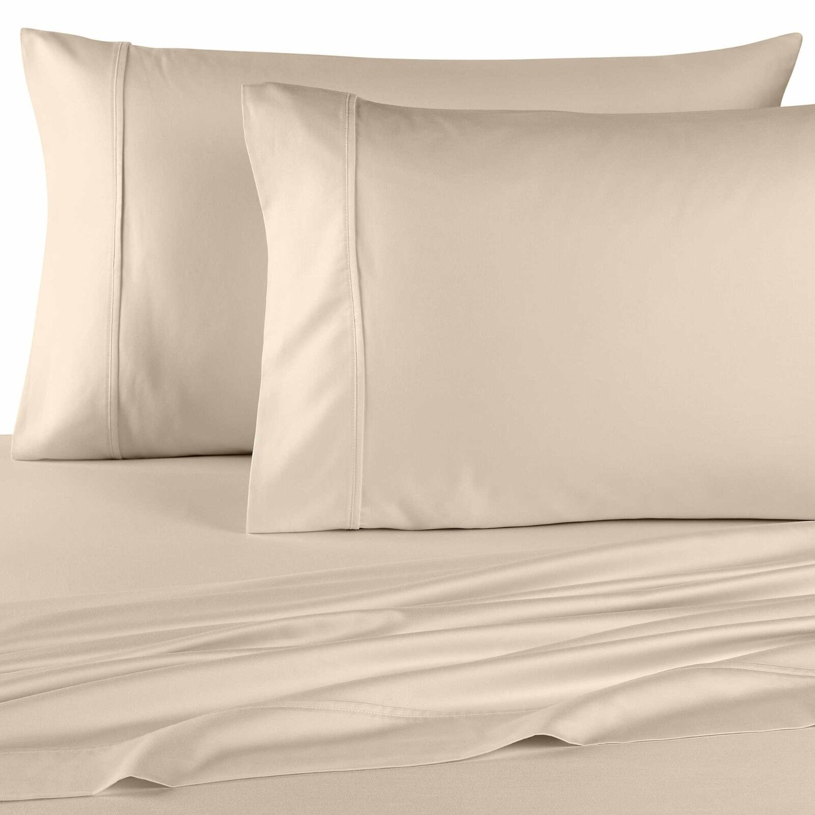 1500 Thread Count 100% Egyptian Cotton Bed Sheet Set 1500 TC TWIN XL Ivory Solid