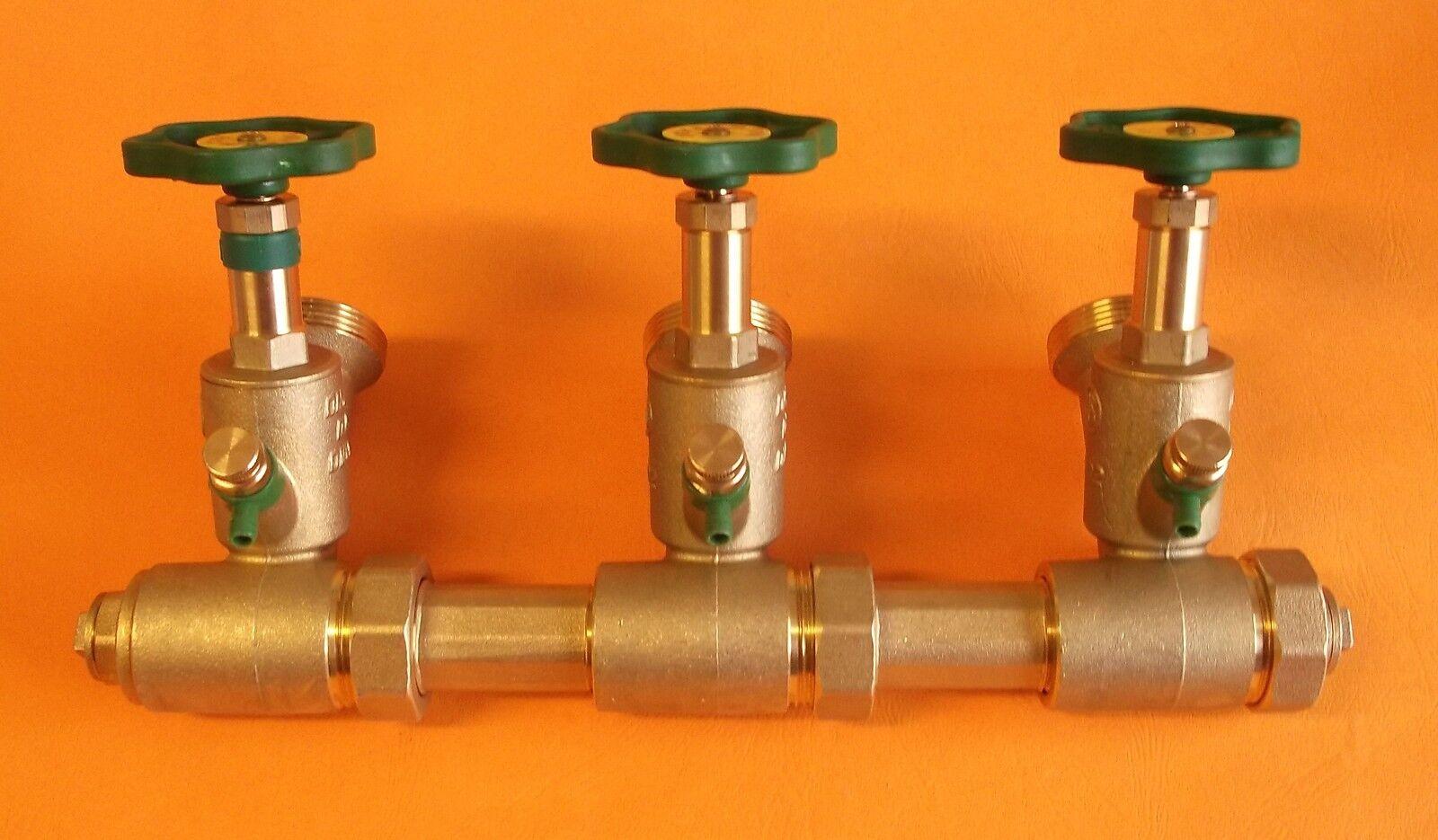 Schlößer Verteiler Kompaktverteiler Wasserverteiler DN25 A DN40, 3fach   9300264