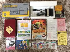 Nintendo Famicom Disk System FDS Complete in Box CIB +2 Disks, +FDSStick, READ!
