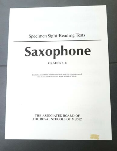 ABRSM Specimen Sight-Reading Tests Saxophone Grades 6-8