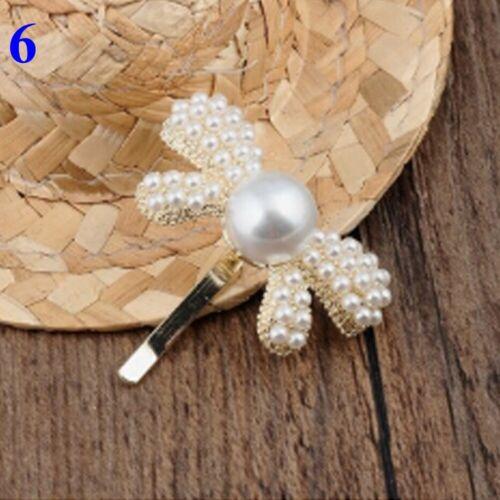Hair Accessories Korean Hair Clips Hairgrip Rhinestone  Women Pearl Hairpins