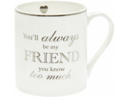 You Will Always Be My Friend You Know Too Much Mug gift bnib