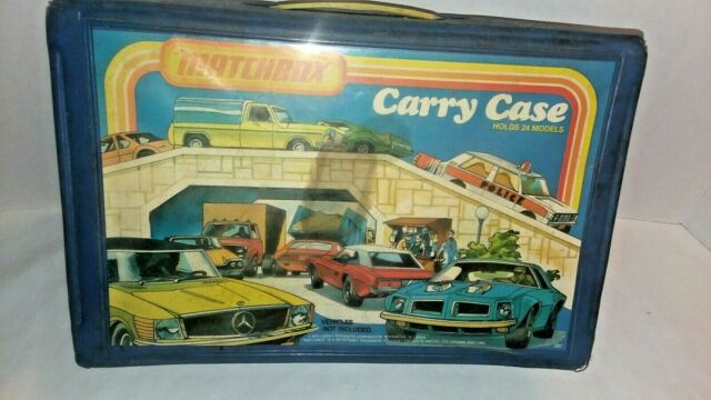 Vintage Matchbox Collector's Carry Case Holds 24