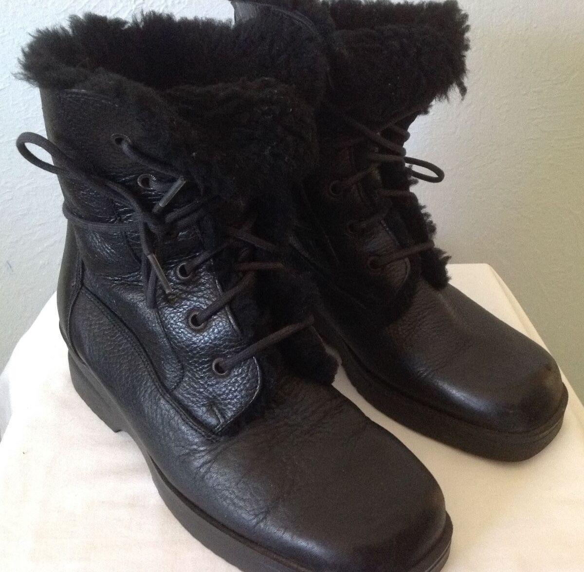 *37* SANTANA Canada Leather Boots Fur Sheepskin Shearling Weatherproof Boots Leather 98c2d6