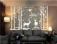 Christmas Decoration Xmas Vinyl Shop Windows/Wall Stickers UK 221