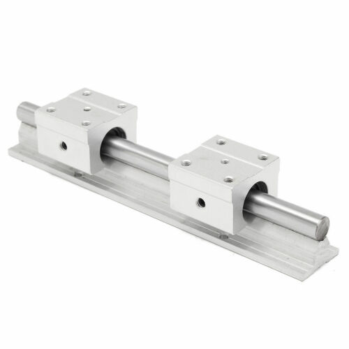 2PCS SBR12 200mm-1000mm Linear Rail Shaft Rod Optical Axis 4PCS SBR12UU Blocks