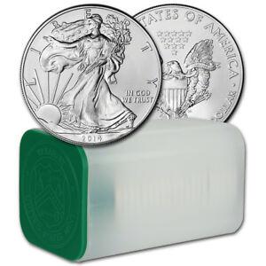 2014 American Silver Eagle (1 oz) $1 - 1 Roll - Twenty 20 BU Coins in Mint Tube