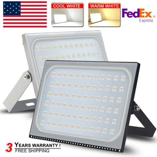 500W LED Flood Light Cool/&Warm White Outdoor Garden Lamp Lighting 12V-110V IP67