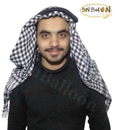 Arafat Shemagh Kafiya árabe Bufanda Chal Keffiyeh Palestina Igal Egal Set 358
