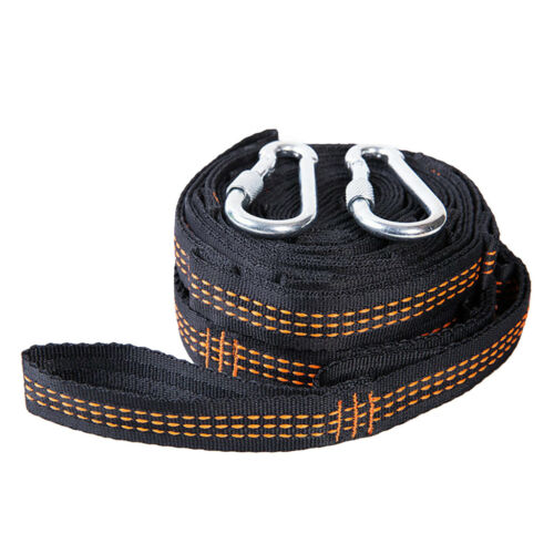 Outdoor Strong Strap Bandage Nylon Hammock Tree Strap Hanging Rope with Hook