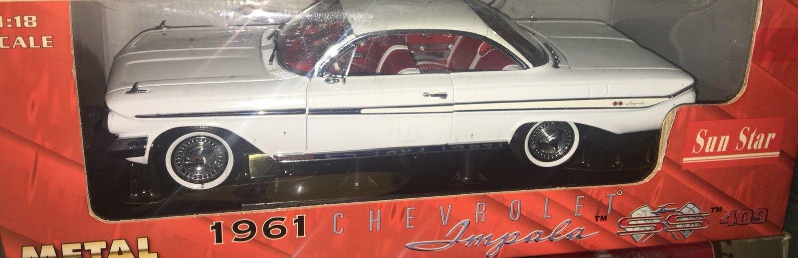 Sun Star Chevrolet Impala SS 409 De 1961 Maqueta Americana Coche 1 18 En Caja