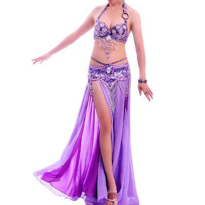 A004 Professionale Danza Del Ventre Costume 3 Pezzi Reggiseno Cintura Rock Vernus Serie- Styling Aggiornato