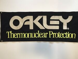 Oakley Thermal Nuclear Protection VTG 80s Banner Tapestry 33in x 13in
