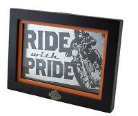 Hallmark Harley Davidson ride With Pride Framed Sign