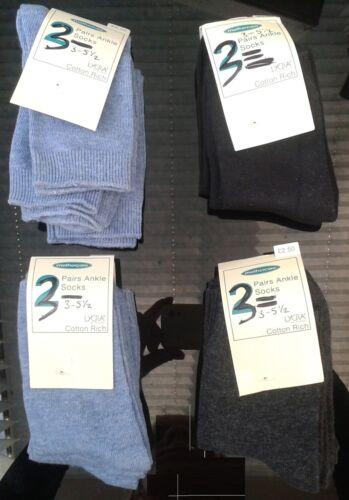 Plain Colours Various Branded Girls Boys Baby Toddler Ankle Socks 10 or 12 Pairs
