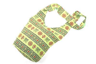 Neueste Kollektion Von Tolle Mit Om + Symbolen Verzierte Tasche Aus Baumwolle Hippie Vintage Goa