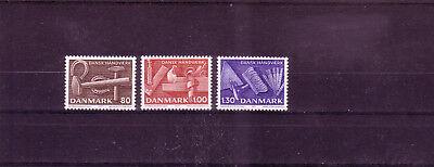 Reinweiß Und LichtdurchläSsig europa:10588 Sonnig Dänemark Michelnummer 645-647 Postfrisch