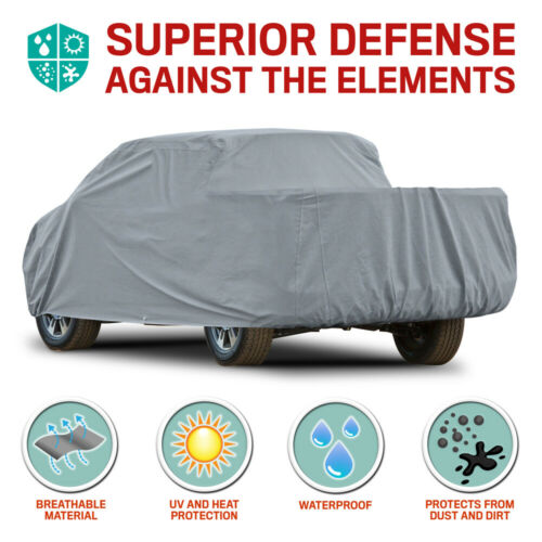 Motor Trend XL2 Pickup Truck Cover Waterproof for Dodge Ram 2500 Quad Cab 02-08