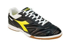 fb86d23df Diadora Italica R ID Mens Turf Soccer Shoes Size 9.5 Black/Yellow ...