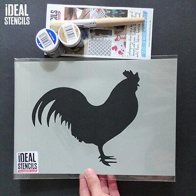 Chicken stencil paint walls fabric furniture farm animal decor Ideal Stencils