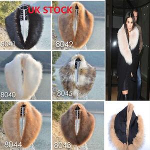 Ladies-Women-039-s-Faux-Fur-Collar-Scarf-Fluffy-Winter-Shawl-Wrap-Stole-Scarfs