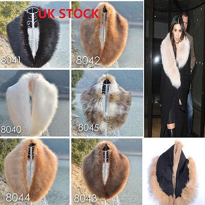 Women/'s Faux Fur Collar Scarf Fluffy Winter Shawl Wrap Stole Scarfs Lady Fashion