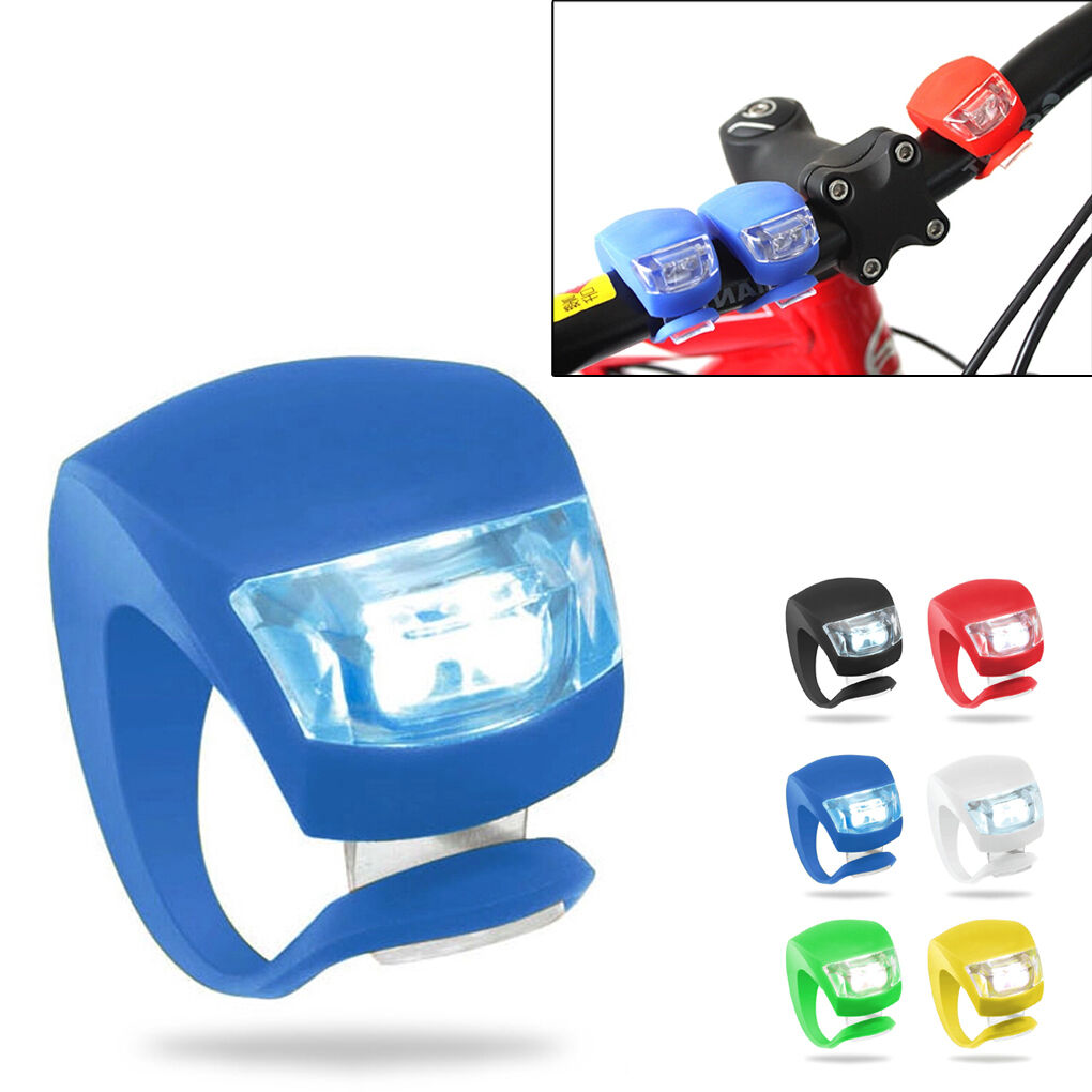 LOT Silicone Bike Bicycle Cycling Head Front  Rear Wheel LED Flash Light Lamp  best reputation