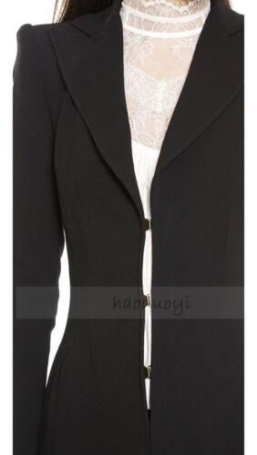 Fashion Women Trendy Wool Blend Court Tail Windbreaker Coats Swallow Jackets New
