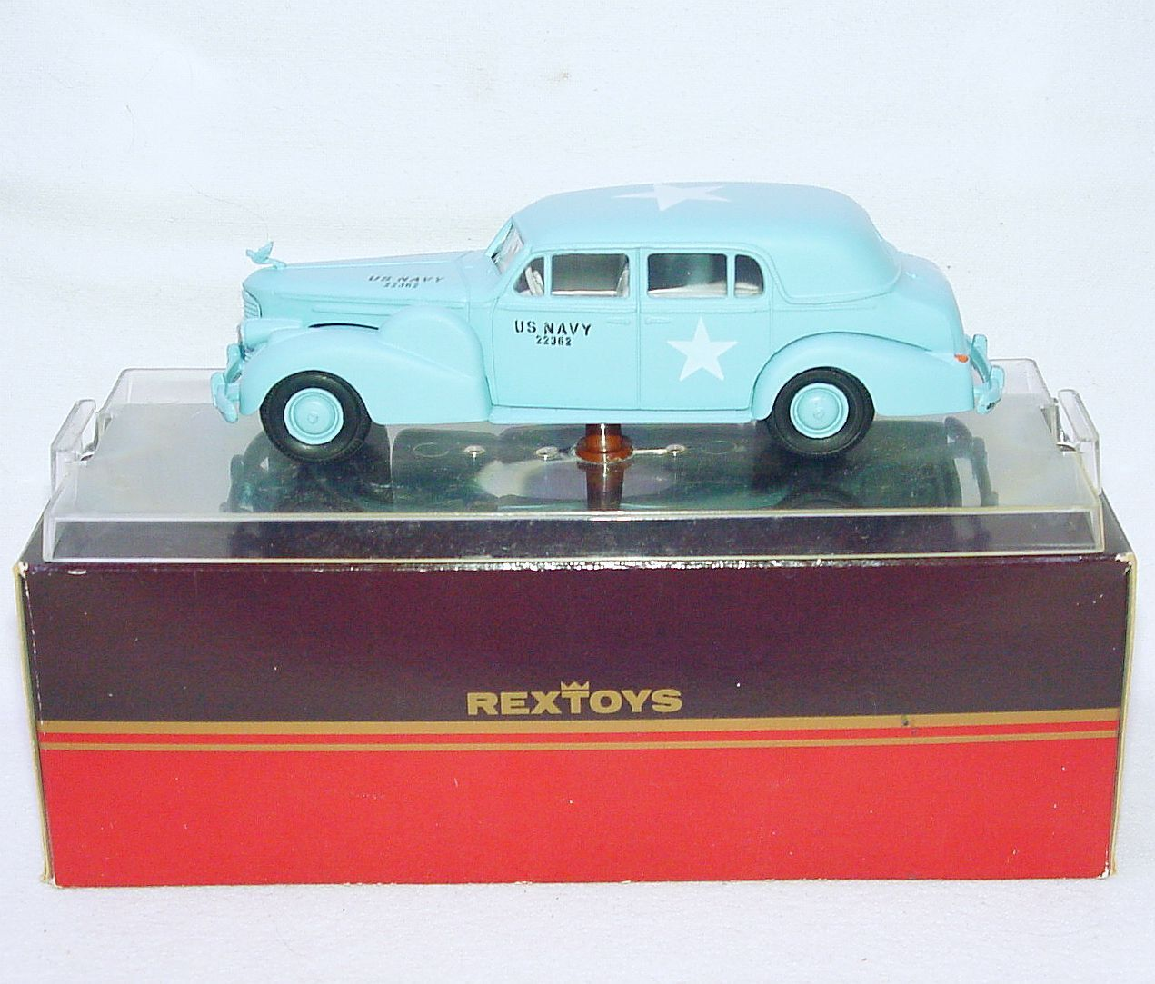 REXTOYS Portugal 1 43 WW2 US NAVY ILLAC V16 1938 Army Command voiture véhicule Comme neuf IN BOX