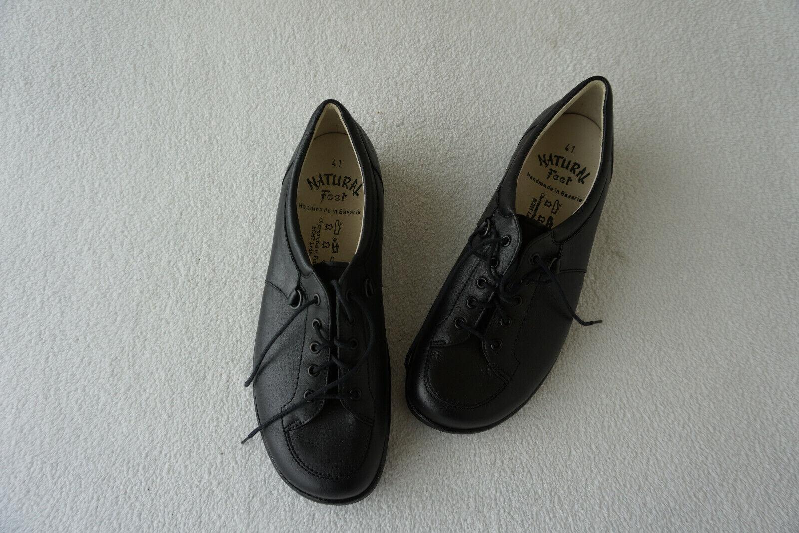Ortopedico Natural Feet Sautope Donna Sautope con Lacci Gr.41 Nero pelle Nuovo