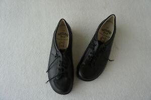 orthopaedische-Natural-Feet-Damen-Schuhe-Schnuerschuhe-Gr-41-Schwarz-Leder-NEU
