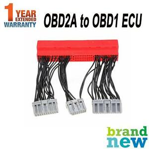 OBD2A to OBD1 Convert ECU Jumper Conversion Wire Harness Adapter For Honda Acura