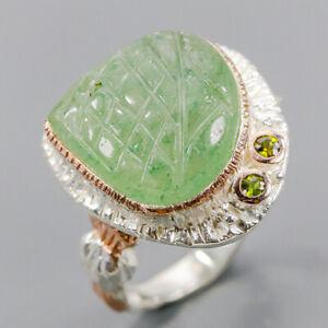 Aventurine Ring Silver 925 Sterling Fine Art Jewelry SET Size 9 /R146116