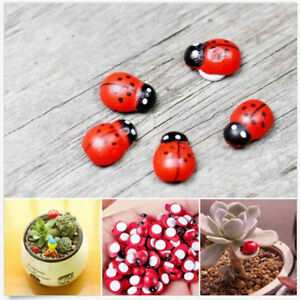 Genial Image Is Loading 10x Mini Ladybug Garden Ornaments Scenery Craft For