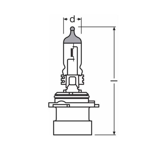 HB4xs 80w Clear Standard Halogen Xenon HID Low Dip Beam Headlight Bulbs